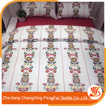 Popular breathable comfortable beautiful polyester bed sheetsets