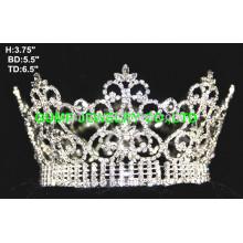 Kristall voll runde Krone Tiara