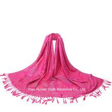 2016 Nova chegada lenço de cores múltiplas Lady Jacquard Shawl