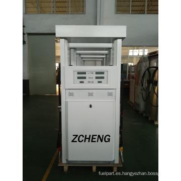 Zcheng blanco gasolina de color estación doble bomba de combustible dispensador