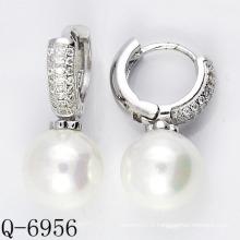 Derniers styles Boucles d'oreilles perles cultivées Argent 925 (Q-6956)