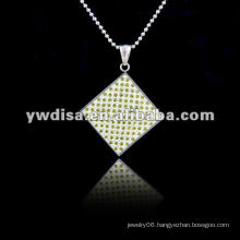 Fashion Pendant With Crystal Pave 2013