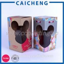 Гофрированная бумага с прозрачной оконной коробки изготовленной на заказ игрушки упаковывая Логос