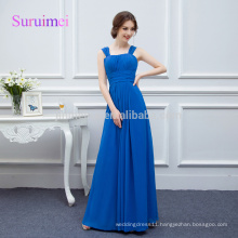 100% Real photos Royal Blue Chiffon Prom Dresses 2018 Vestidos de Noiva Latest Design Strapless Gorgeous cheap Prom Party Gowns