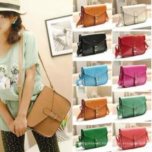 Fashion Women′s PU Leather Satchel Shoulder Messenger Bag Handbag