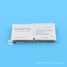 With CE&FDA&ISO certificate for high quality medical Alcohol Pad