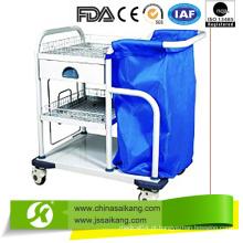 Carrinho de coleta de lavanderia de tratamento móvel