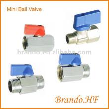 Zinc Alloy Chrome Plated Male Female or Female Female Thread Mini Ball Valve