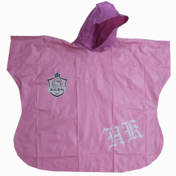 Enfants animale impression Pvc Poncho