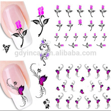 New Water Decal Zipper Nails Stickers,Temporary Nail Tattoo