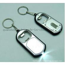 OEM Metal LED Bottle Opener Keyring Keychain Key Ring Chain