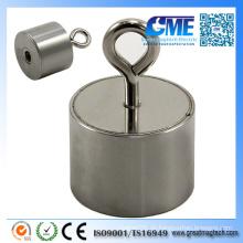 Leistungsstarke NdFeB M5 Eyebolt D40X29mm Pot Magnet