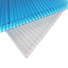 6mm transparent polycarbonate raw material two layers plastic polycarbonate PC sheet roofing panels used commercial greenhouse