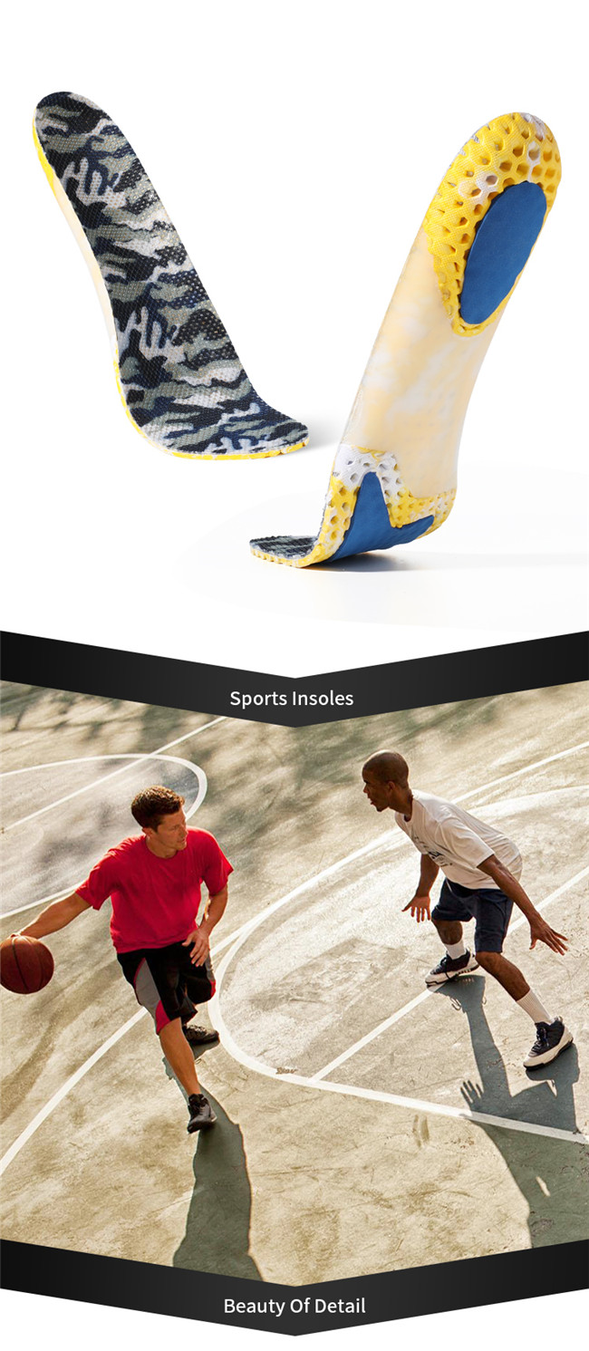 Honeycomb support insole motion elasticity