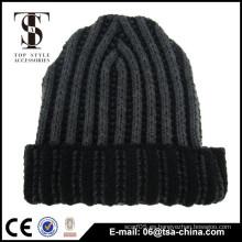 Casquillo de remiendo de encargo largo de acrílico Beanie Knit Hat de invierno