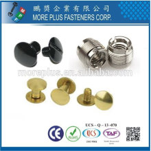 Taiwan Steel Stainless Steel Copper Standard ou Non-Standard Double Cap Rivet Screw Sets Male Female Screws Chicago Screws