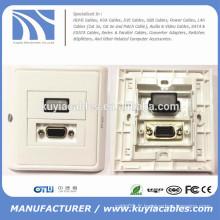 86 * 86mm Plaque signalétique murale HDMI et VGA Plaque signalétique