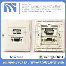 86*86mm HDMI and VGA wall face plate Module Faceplate