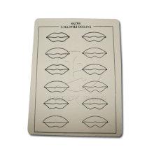 12 lèvres maquillage Permanent lèvres pratique 15 * 20CM de la peau pour les peaux de pratique de tatouage maquillage