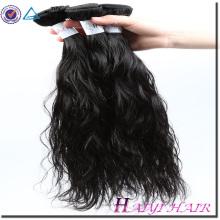 Cabello malasio 100 por ciento cabello humano suave y suave onda natural 8a
