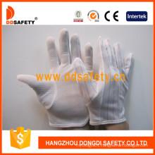 Ddsafety Anti-Static Mini Dots Glove Gloves with Nylon Stitch Hem Dch119