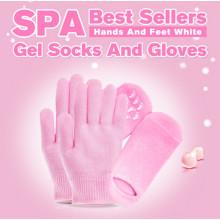Уход за руками ноги уход за красотой кожи увлажняющий гель пальцы SPA гель перчатки с различными цветами, маска для рук, ног Маска