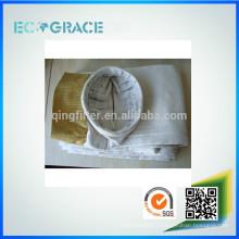 Sac de filtration en fibre de verre industriel en ciment 26 oz avec membrane en PTFE