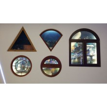 Thermal break aluminium profiles for side-hung window