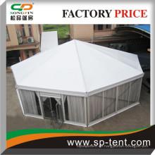 Diagonale 15m Octagon Rundzelte zum Verkauf mit transparenten Wänden und Innenverkleidungen