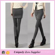 Быстрая доставка мода женщин черный хлопок юбка Леггинсы (SR8202)