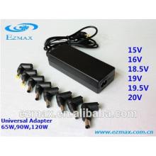 Adaptador de alimentação ac / dc portátil universal de 65W