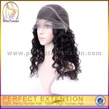 In Stock Cheap Silky Kinky Curl European Women Virgin Lace Short Curly Wigs