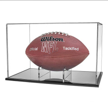 Counter Top Square Museum Football Acrylic Display Showcase Box Case
