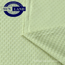 100% coolpass dry fit polyester double check knit garment fabric for  badminton cloth