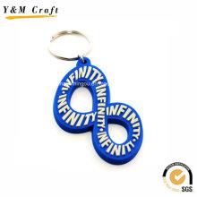 Zahl-Entwurfs-kundenspezifische weiche PVC-Schlüsselkette für Verkauf Ym1119