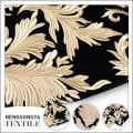 Boa venda de ouro bordado 100 poliéster tecido de veludo floral