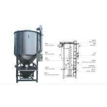 Machine en plastique de mélangeur de mélangeur de granules de granules avec le chauffage