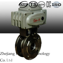 Electric Italy Ss Type Thin Ball Valve with Flange End