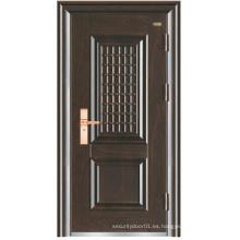 Puerta de seguridad simple de acero de aluminio de Turquía