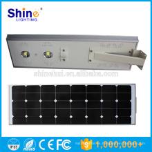 50w lámparas al aire libre de la calle ip65 bridgelux cob solar led street light price