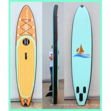 Stand Up Paddle Board aus Holz, aufblasbares Sup mit Drop Stitch