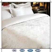 Personalizado 100 Cotton Plain Branco Atacado Hotel de luxo cabido Folha