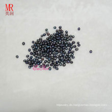 6-7mm schwarzer Reis / Oval / Tropfen Süßwasserperlen