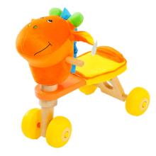 De Buena Calidad Bicicleta de madera del bebé con la cabeza del burro