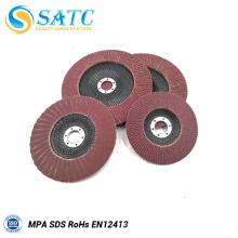 China fabricante 4 1/2 '' * 7/8 '' grão 60/80 disco de flap de óxido de zircônio para o aço com ótimo preço