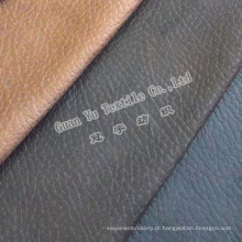 Tecido de sofá de camurça couro gravado poliéster para Slipcovers