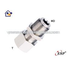 ningbo ESP female straight pneumatic metal fittings pipe connectors