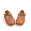 Brown T Bar Mary Jane Baby Shoes Shoes
