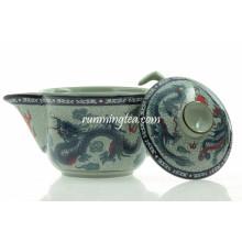 Botella de té de cerámica tradicional Dragon & Phenix de 200 cc