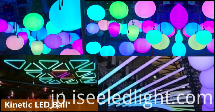 Kinetic LED Ball stage